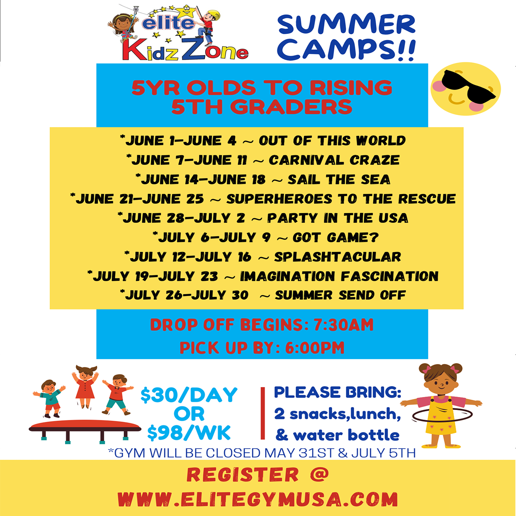 kidzone flyer summer camp sq